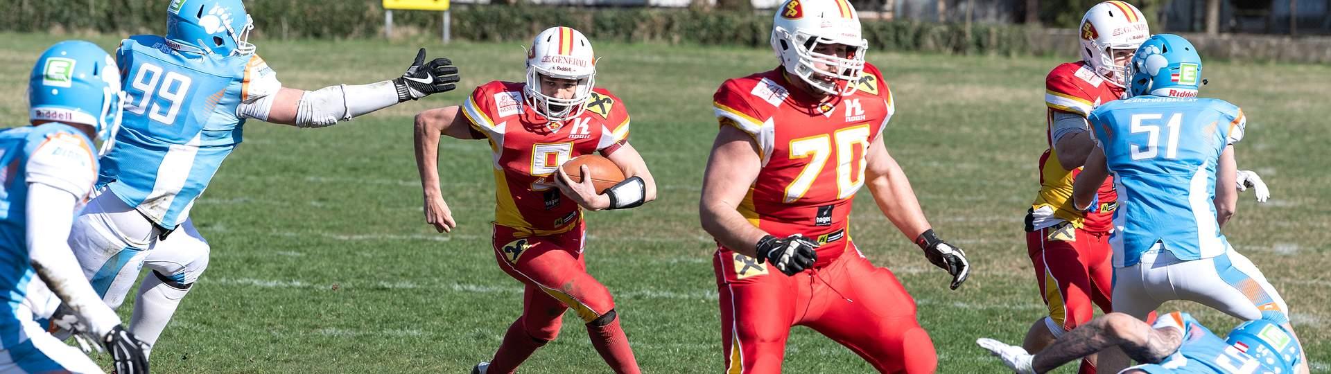 St. Pölten Invaders American Football gegen Styrian Bears